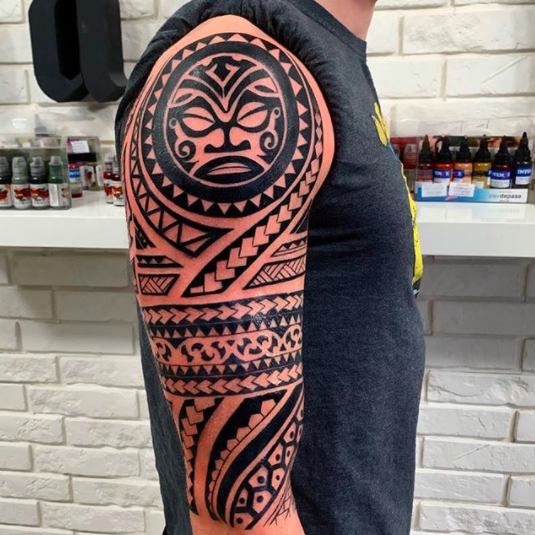 half sleeve polynesian maori sleeve for men