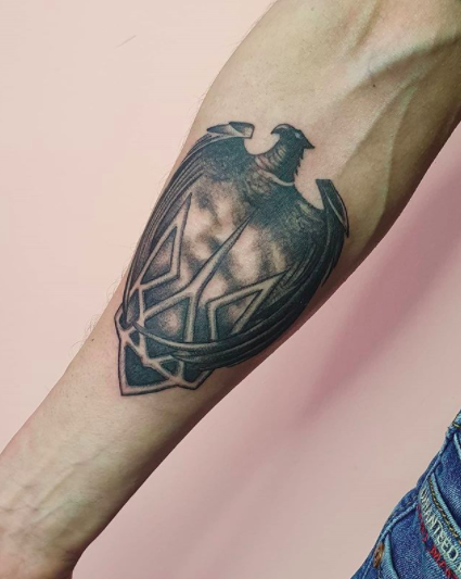inner forearm eagle tattoo