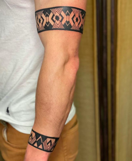 two bands tribal tattoo