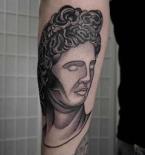 marcus aurelius forearm tattoo