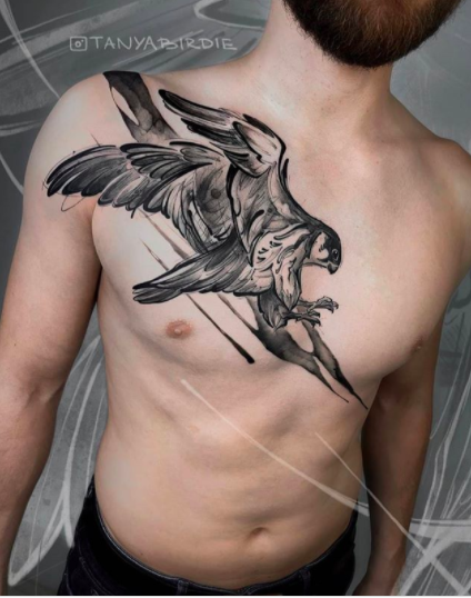 hawk tattoo design for men