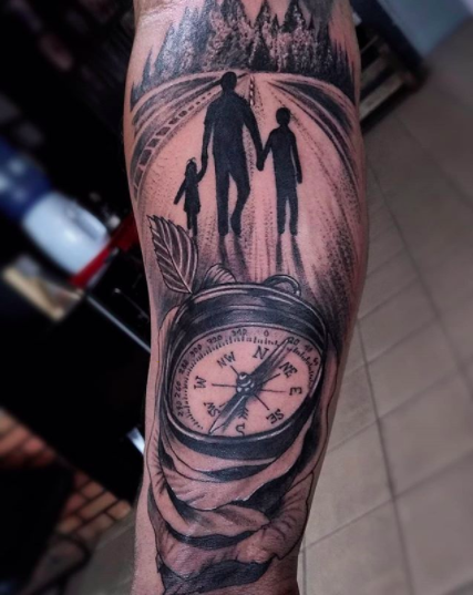memorial tattoo for men