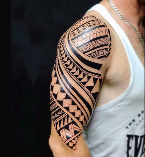 upperarm tribal tattoo