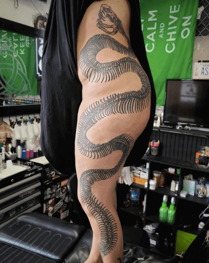 snake skeleton tattoo