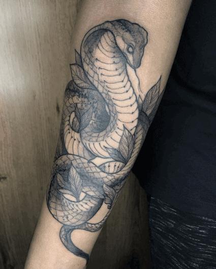 leaves cobra tattoo