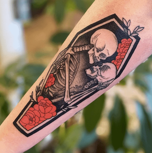 Halloween Ghost Tattoo by chase_tattoos