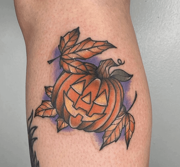 Jack O Lantern Tattoo by haleylynntattoos