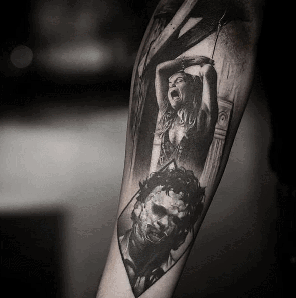 Leatherface Tattoo by christian_sigil