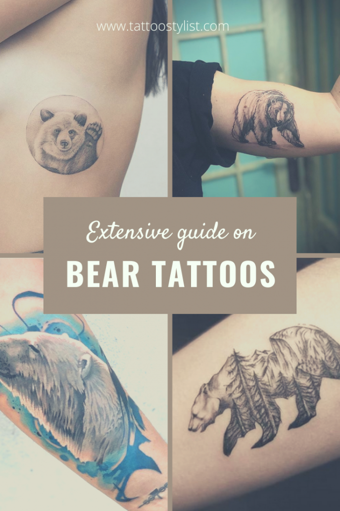 Guide On Bear Tattoos Pinterest Pin
