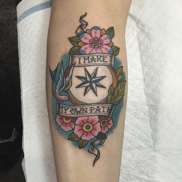Make my own path compass tattoo by @stef2026