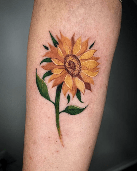Small gentle watercolor sunflower by @bekytx