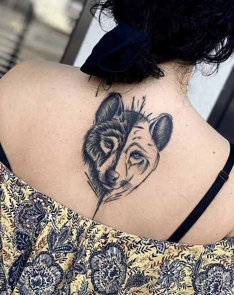 Sketched out wolf head tattoo by @szymon_radzik