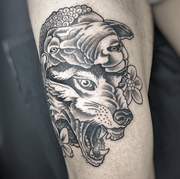 Traditional wolf in sheep's clothing by @jeckyll777