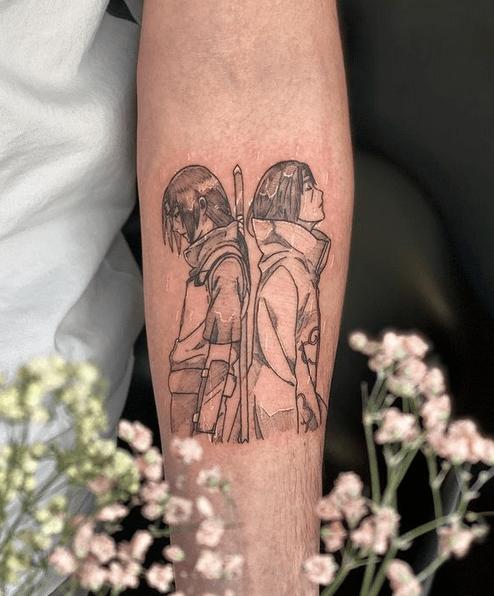 Itachi Uchiba Naruto tattoo by @moondoll_ink