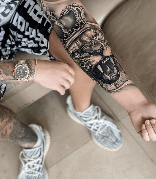 Realistic 3d lion of judah tattoo by @drozdovtattoo