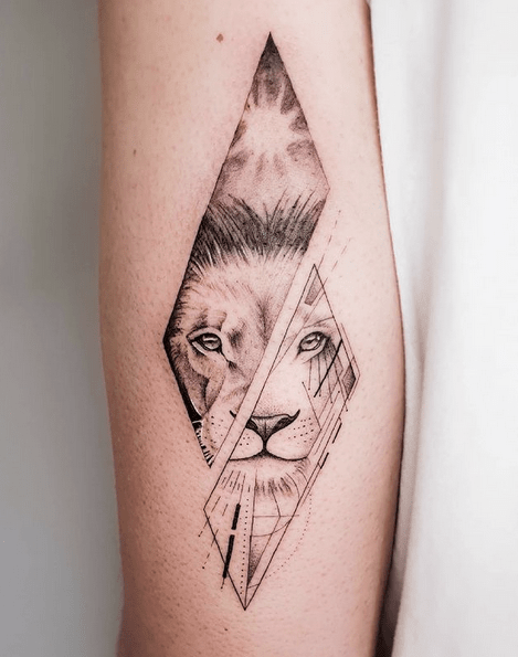 Small lion lioness tattoo by @dolores_b_tattoo
