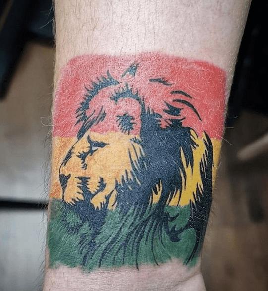 Small rastafari lion tattoo by @gromekdziara