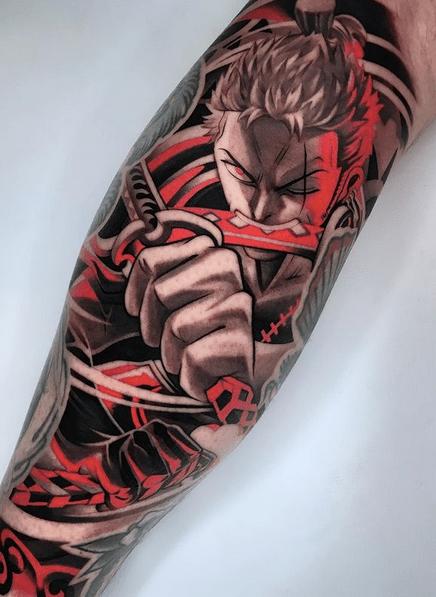 zoro from one piece tattoo by @alan_ferioli