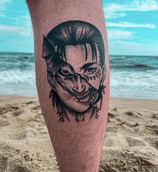 Attack on titan tattoo by @antonio.ciraci_