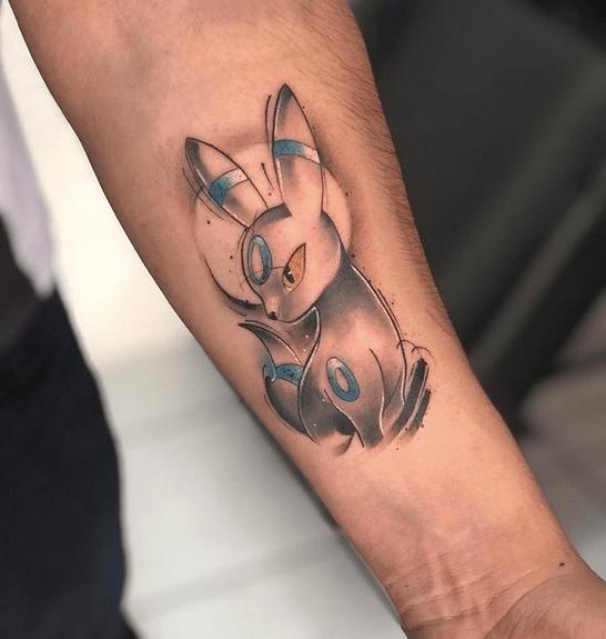 Forearm pokemon tattoo by @1993_tattoo