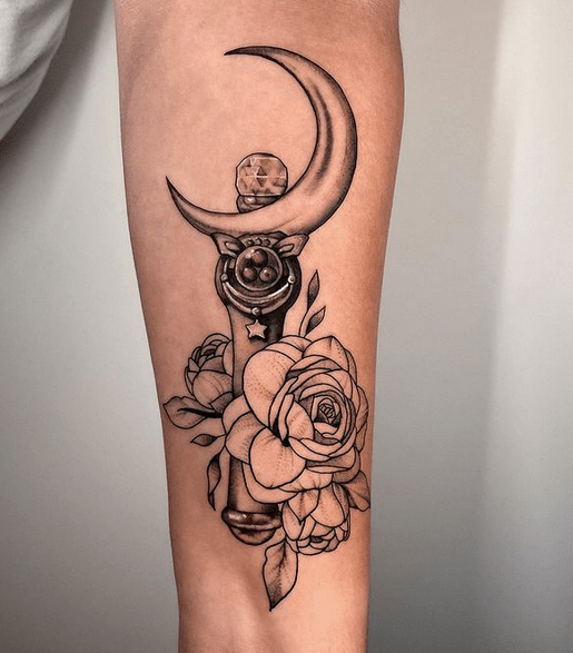 Sailor Moon Wand tattoo by @sherilyn_ink