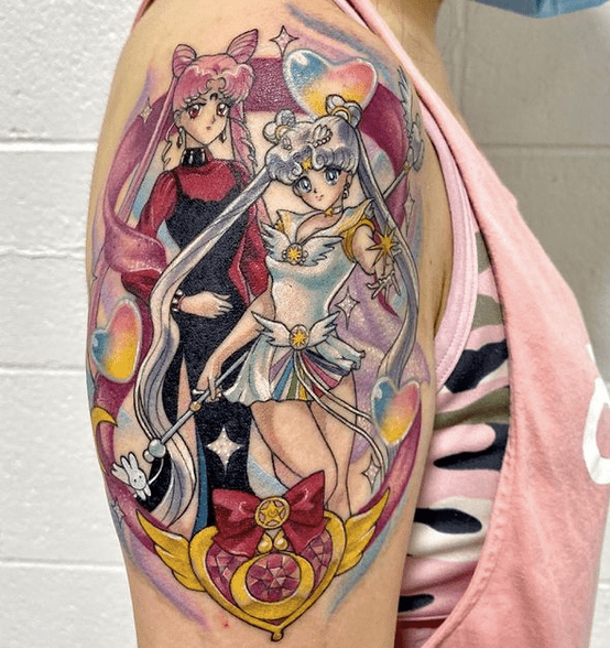Sailor Moon tattoo by @marie_sm_tattoos