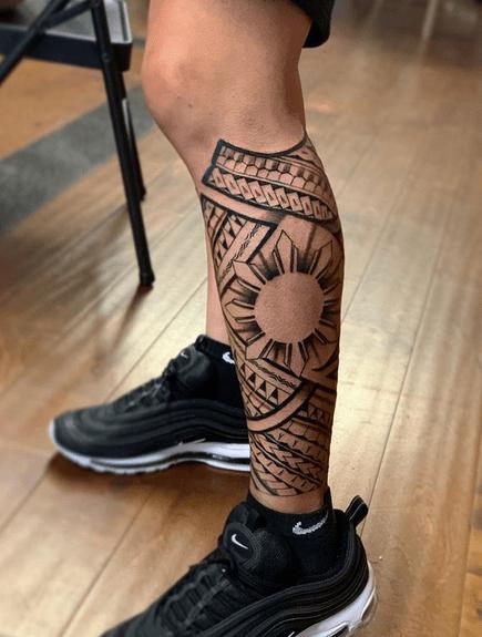 Polynesian Filipino sun tattoo by @tatakbyjay