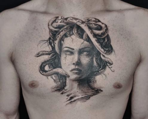 Medusa Tattoo by @taisia_rak