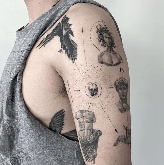 Mythological medusa tattoo by @mrsebaland