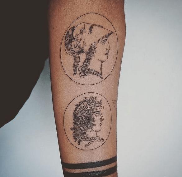 Perseus Medusa tattoo by @doni_hysi1